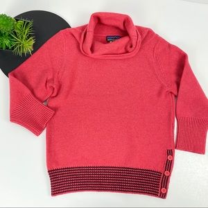 Patagonia Pink T-Neck with Stripes